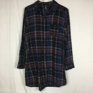 *SALE* Forever 21 Purple Flannel Oversized Shirt